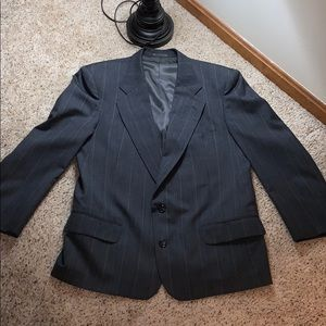 Men's Custom Tailored Gray Pinstripe Suit